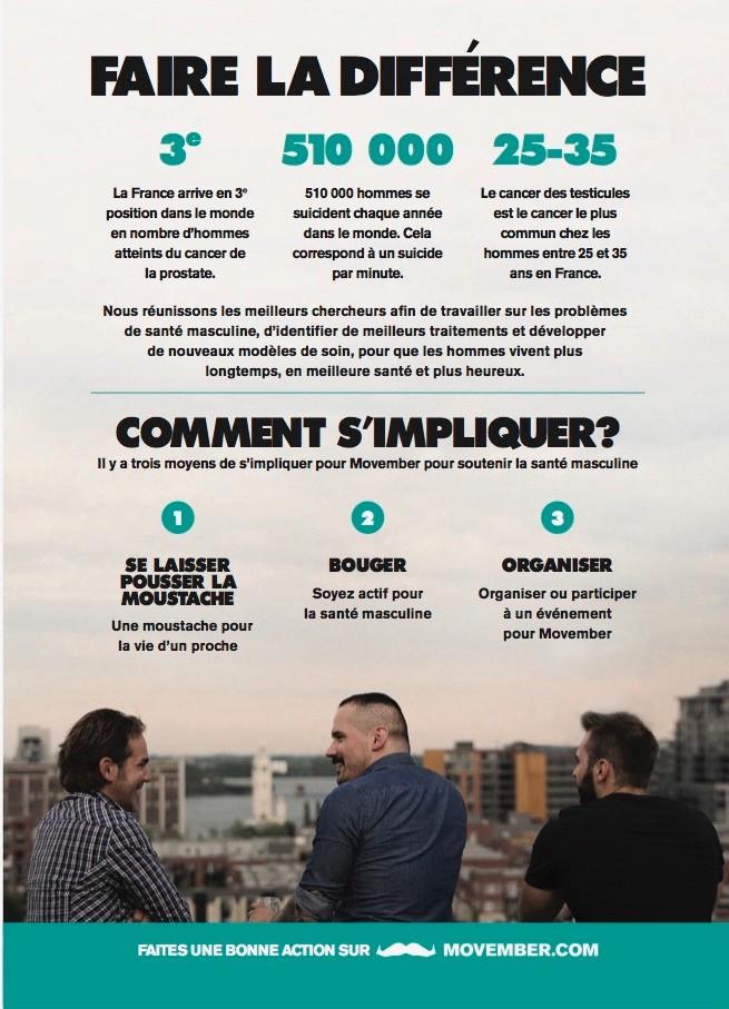 Movember infographie